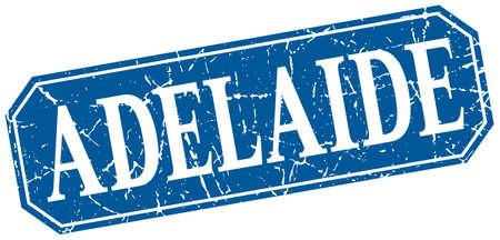 adelaide: Adelaide blue square grunge retro style sign