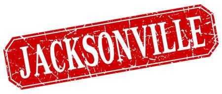 jacksonville: Jacksonville red square grunge retro style sign