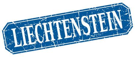 liechtenstein: Liechtenstein blue square grunge retro style sign
