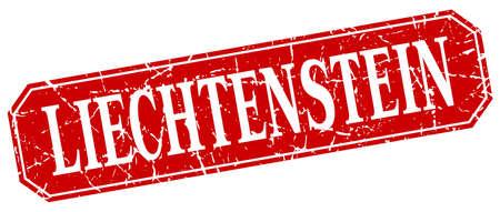 liechtenstein: Liechtenstein red square grunge retro style sign