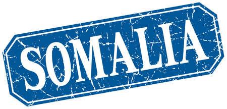 somalia: Somalia blue square grunge retro style sign