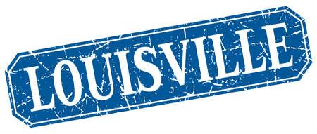 louisville: Louisville blue square grunge retro style sign