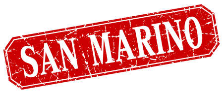 marino: San Marino red square grunge retro style sign Illustration