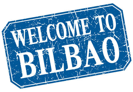 bilbao: welcome to Bilbao blue square grunge stamp