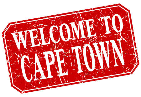 cape town: welcome to Cape Town red square grunge stamp Illustration