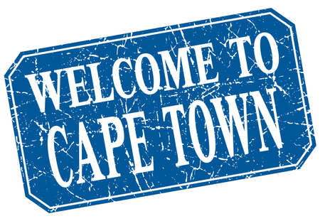 cape town: welcome to Cape Town blue square grunge stamp