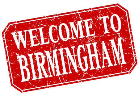 birmingham: welcome to Birmingham red square grunge stamp