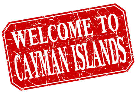 cayman islands: welcome to Cayman Islands red square grunge stamp Illustration