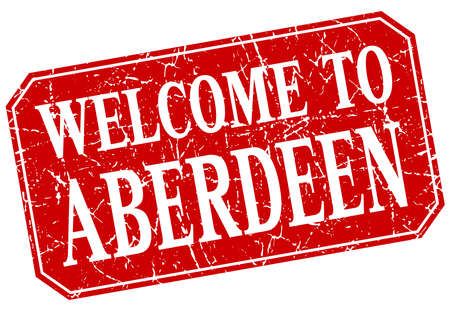aberdeen: welcome to Aberdeen red square grunge stamp Illustration