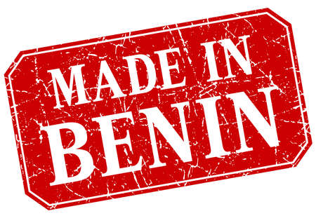 benin: made in Benin red square grunge stamp Illustration