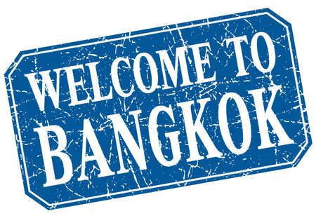 bangkok: welcome to Bangkok blue square grunge stamp