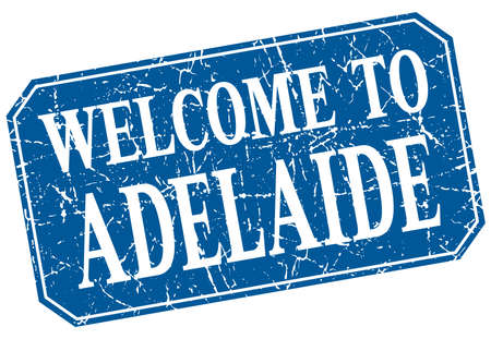 adelaide: welcome to Adelaide blue square grunge stamp