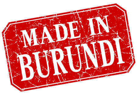burundi: made in Burundi red square grunge stamp