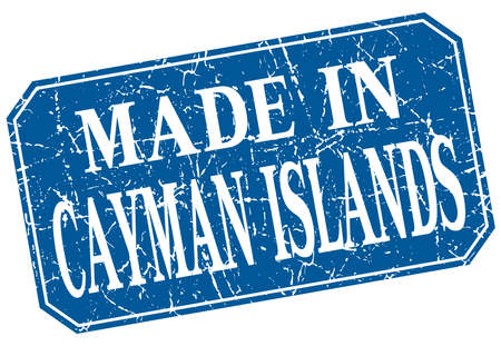 cayman islands: made in Cayman Islands blue square grunge stamp