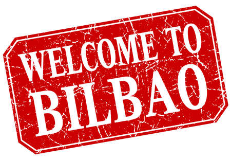 bilbao: welcome to Bilbao red square grunge stamp Illustration