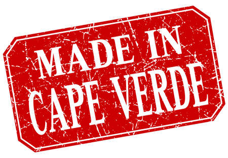cape verde: made in Cape Verde red square grunge stamp