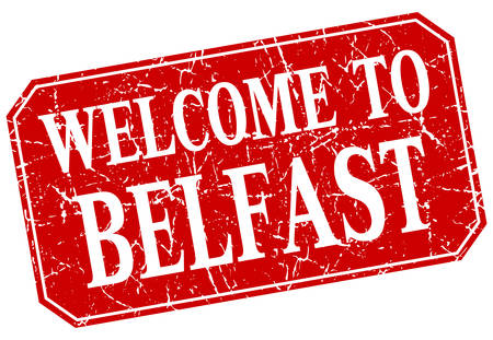 belfast: welcome to Belfast red square grunge stamp