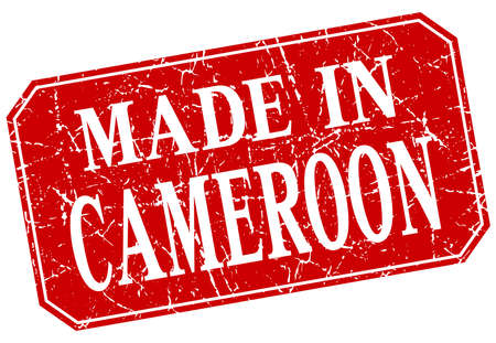 cameroon: made in Cameroon red square grunge stamp Illustration