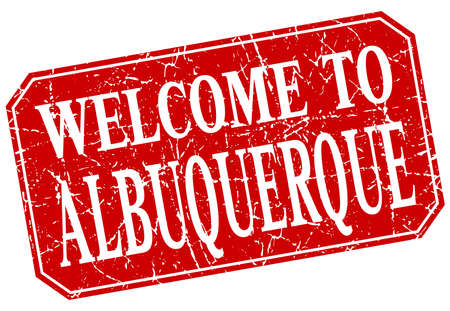 albuquerque: welcome to Albuquerque red square grunge stamp