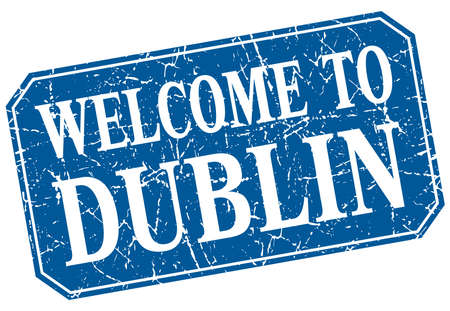 dublin: welcome to Dublin blue square grunge stamp Illustration