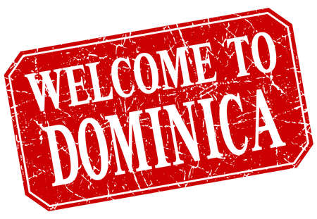 dominica: welcome to Dominica red square grunge stamp