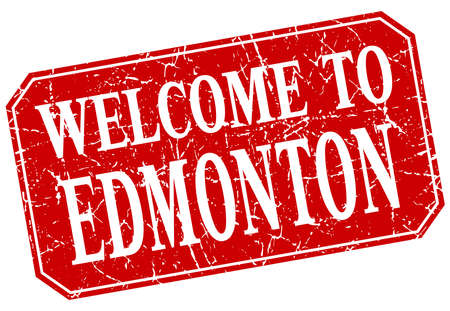 edmonton: welcome to Edmonton red square grunge stamp