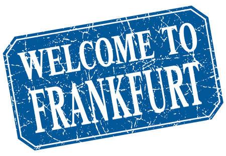 frankfurt: welcome to Frankfurt blue square grunge stamp Illustration