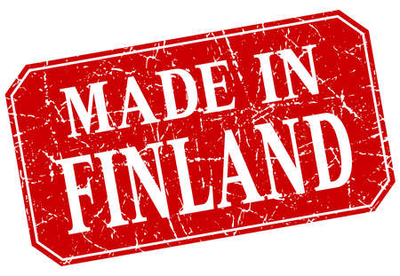 made in finland: made in Finland red square grunge stamp