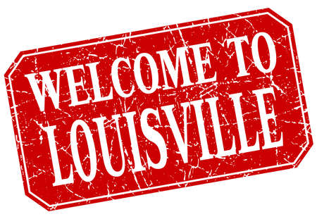louisville: welcome to Louisville red square grunge stamp Illustration