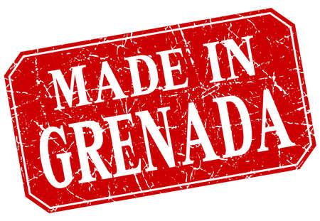 grenada: made in Grenada red square grunge stamp Illustration
