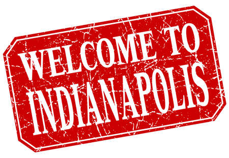 indianapolis: welcome to Indianapolis red square grunge stamp