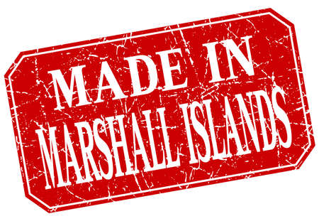marshall: made in Marshall Islands red square grunge stamp