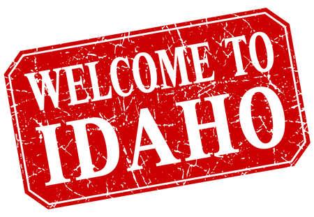 idaho: welcome to Idaho red square grunge stamp