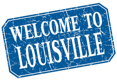louisville: welcome to Louisville blue square grunge stamp Illustration
