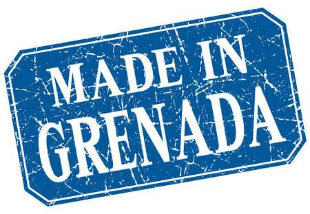 grenada: made in Grenada blue square grunge stamp