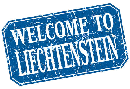 liechtenstein: welcome to Liechtenstein blue square grunge stamp Illustration