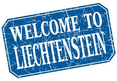 liechtenstein: welcome to Liechtenstein blue square grunge stamp Illustration