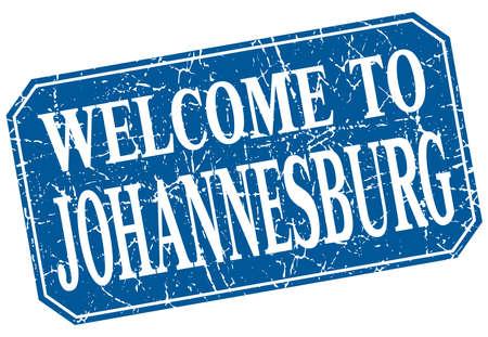 johannesburg: welcome to Johannesburg blue square grunge stamp