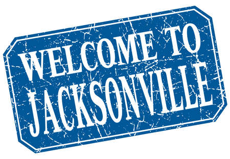 jacksonville: welcome to Jacksonville blue square grunge stamp