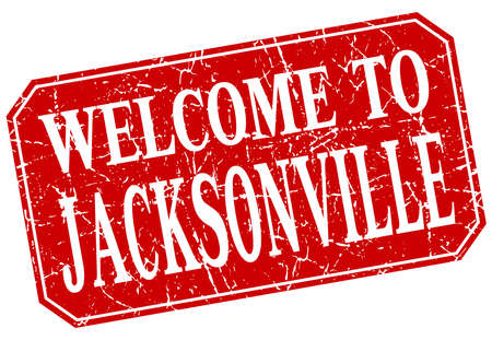 jacksonville: welcome to Jacksonville red square grunge stamp