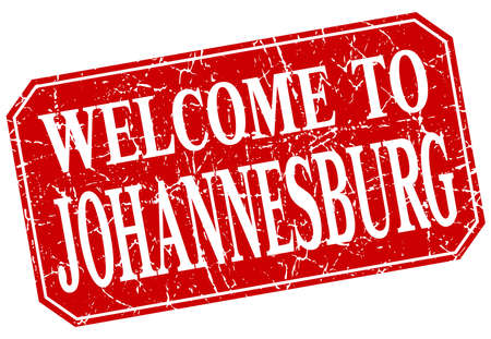 johannesburg: welcome to Johannesburg red square grunge stamp