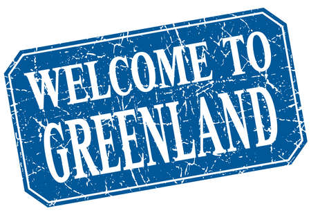 greenland: welcome to Greenland blue square grunge stamp