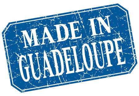 guadeloupe: made in Guadeloupe blue square grunge stamp Illustration