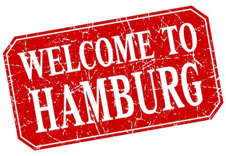 hamburg: welcome to Hamburg red square grunge stamp