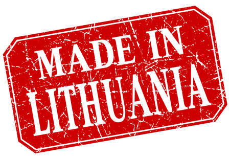 lithuania: made in Lithuania red square grunge stamp
