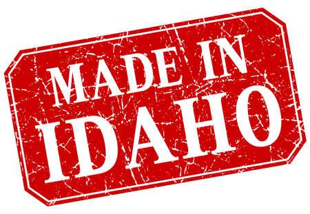 idaho: made in Idaho red square grunge stamp