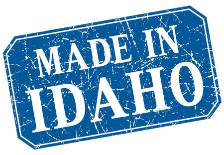 idaho: made in Idaho blue square grunge stamp Illustration