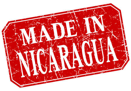 nicaragua: made in Nicaragua red square grunge stamp