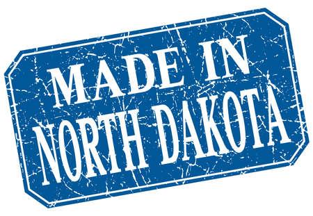 north dakota: made in North Dakota blue square grunge stamp Illustration
