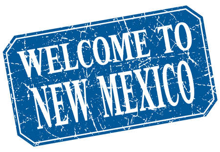 new mexico: welcome to New Mexico blue square grunge stamp Illustration